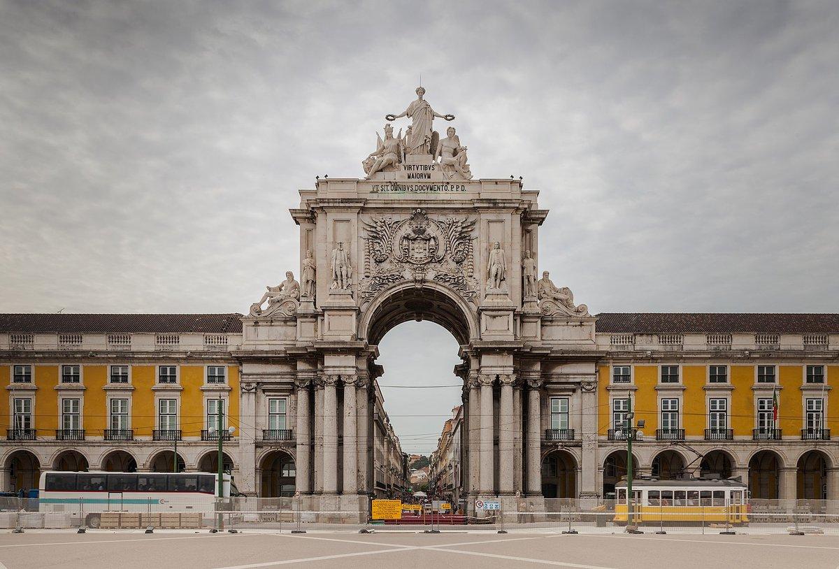 El emblemático Arco de Rúa Augusta de Lisboa.