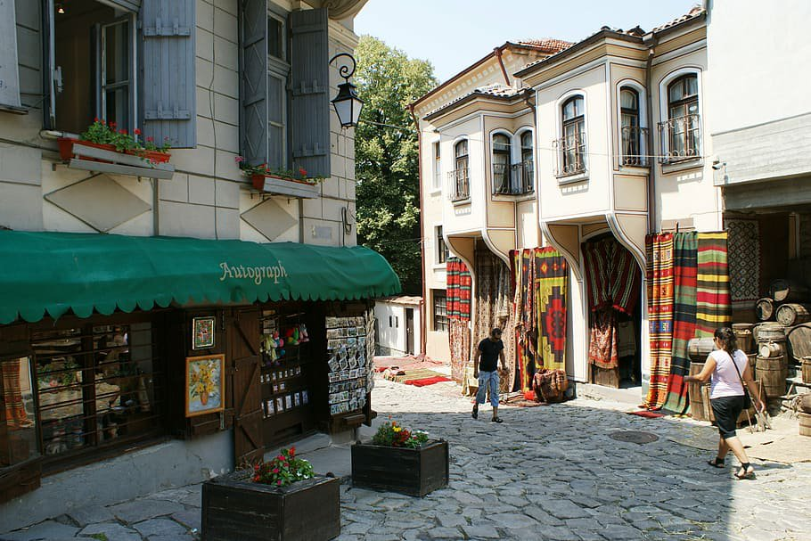 Calle peatonal de la Old town de Plovdiv