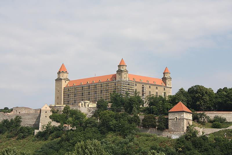 Castillo de Bratislava desde la colina