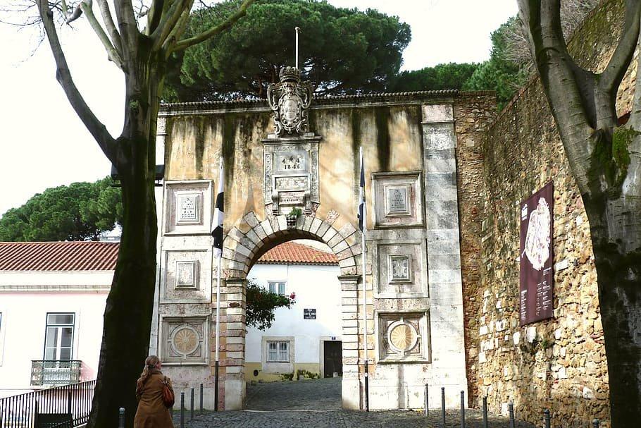Portalada de acceso al castillo de San Jorge