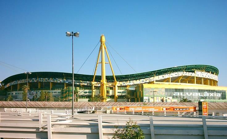 Estadio José Alvalade desde fuera.
