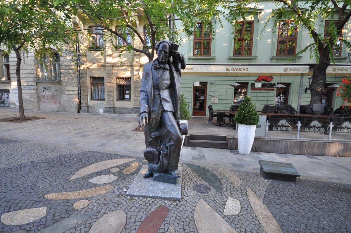 Estatua de Hans Christian en Bratislava