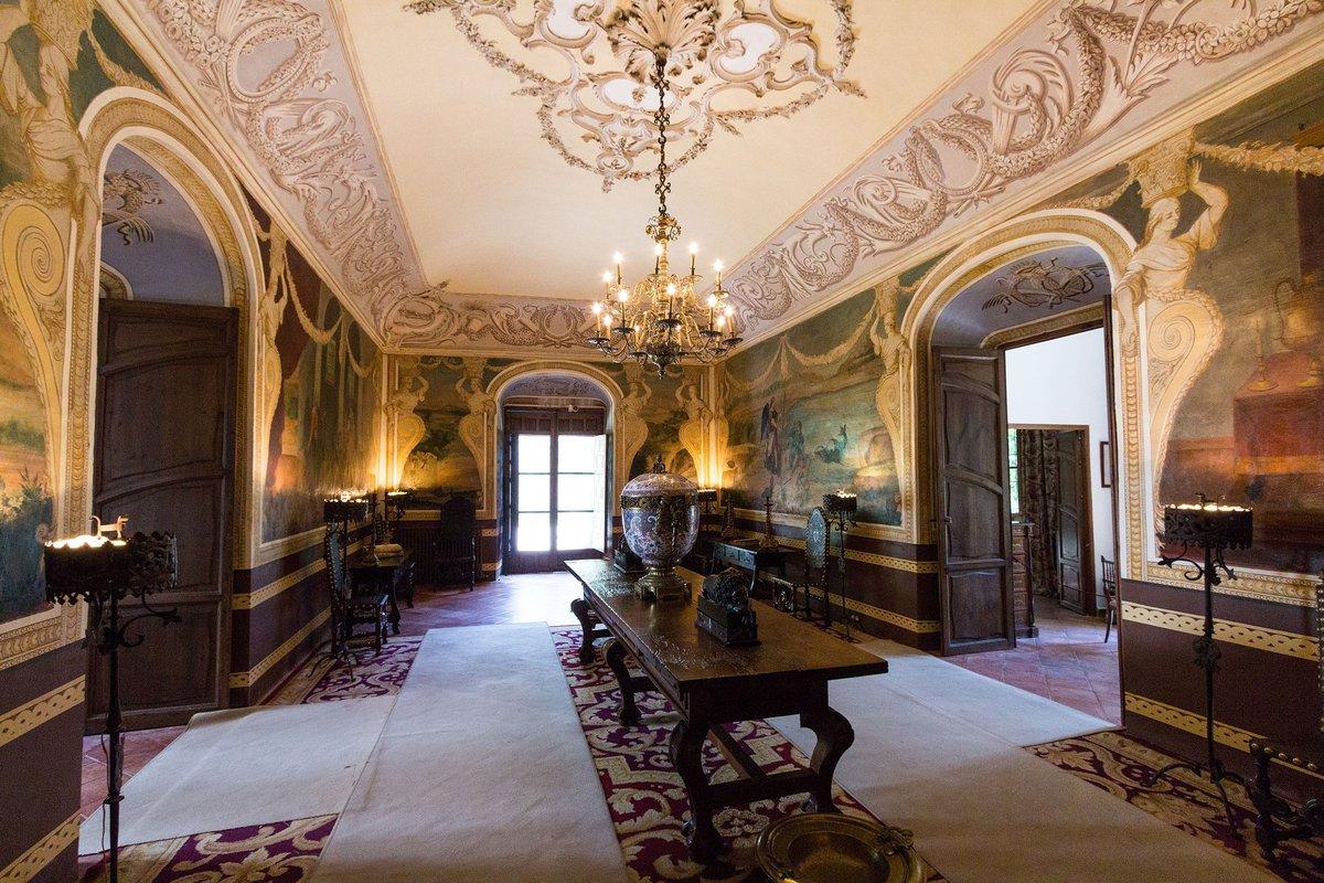 Una de las estancias del Palacio de Viana.