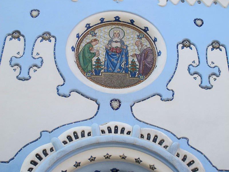 Mosaico representativo del Milagro de las Rosas de Santa Isabel