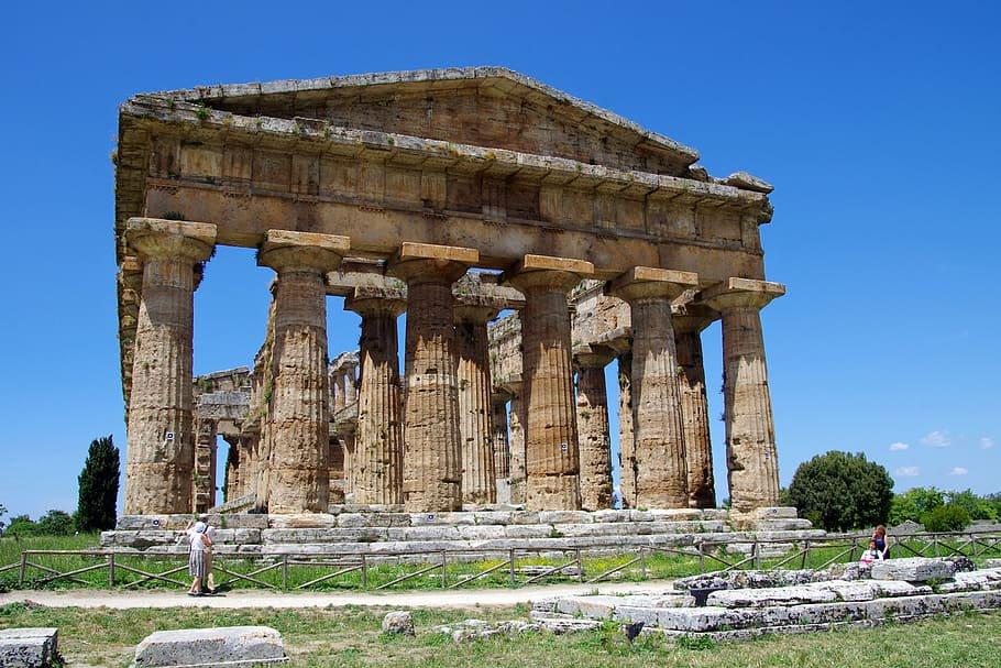 Partenon Paestum en Salerno.