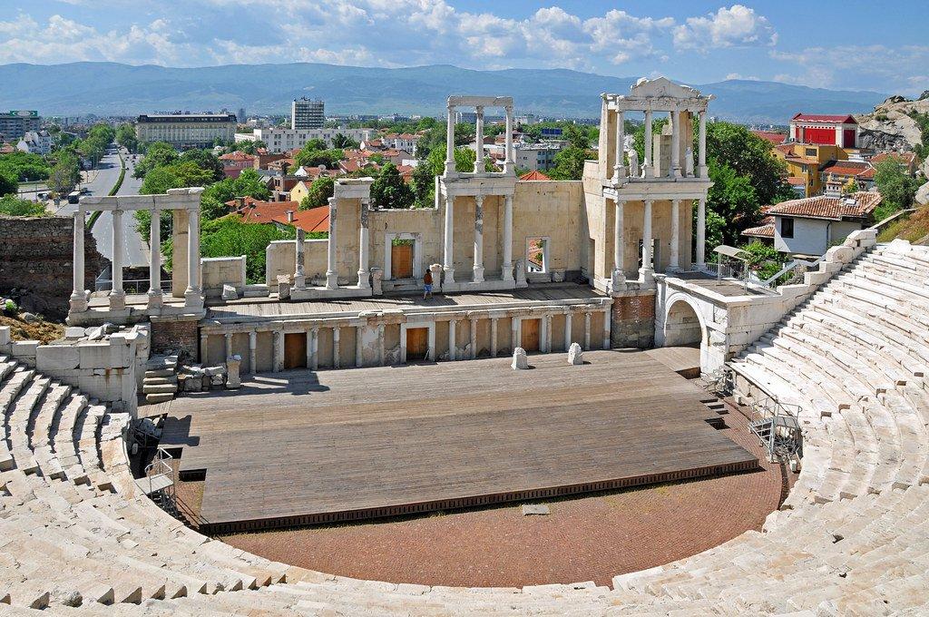 Contrapicado del teatro romano de Plovdiv