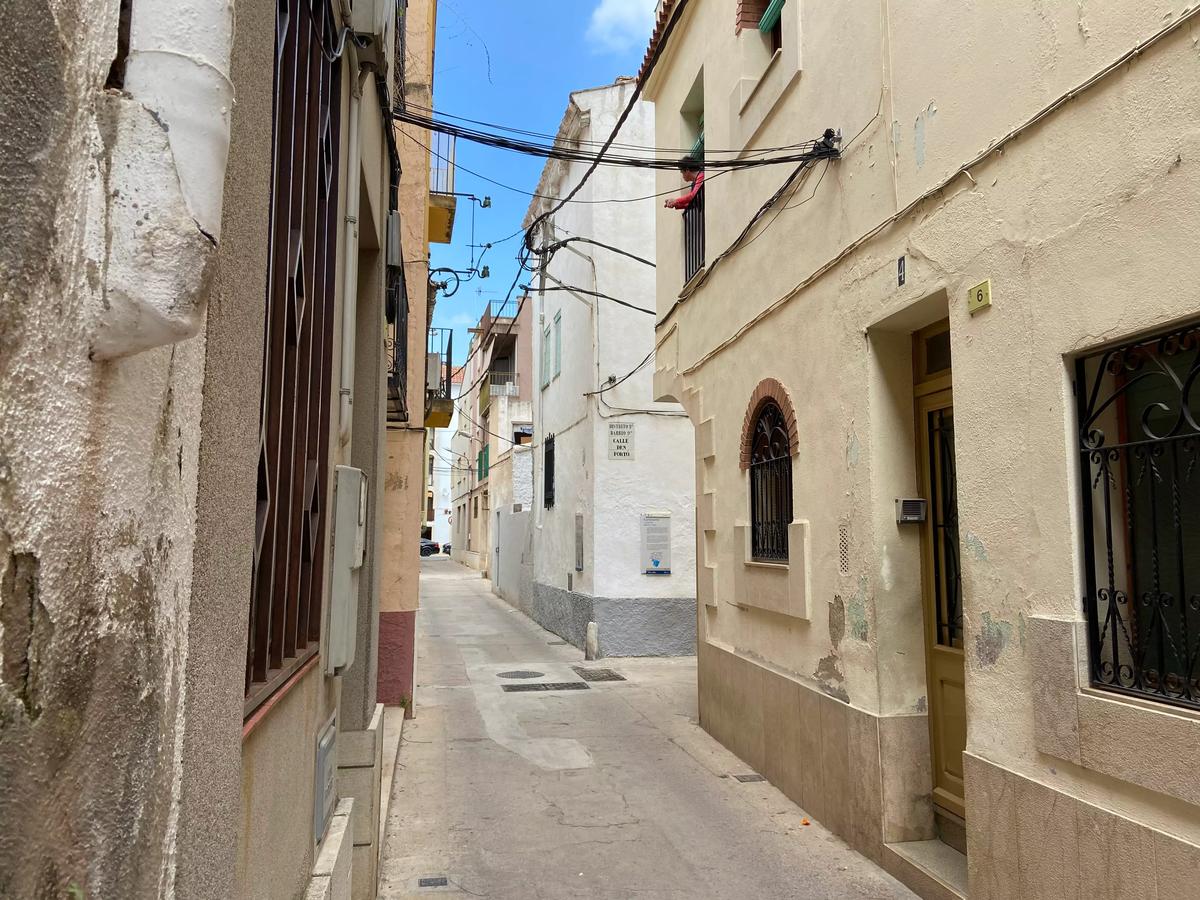 Una de las callejuelas de la Judería de Tortosa.