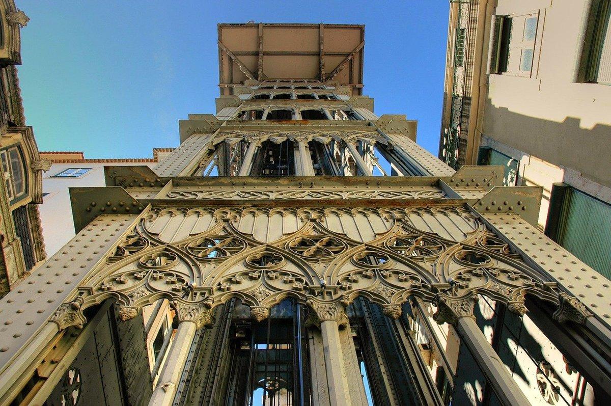 Elevador de Santa Justa, un ascensor con vistas a toda la ciudad.