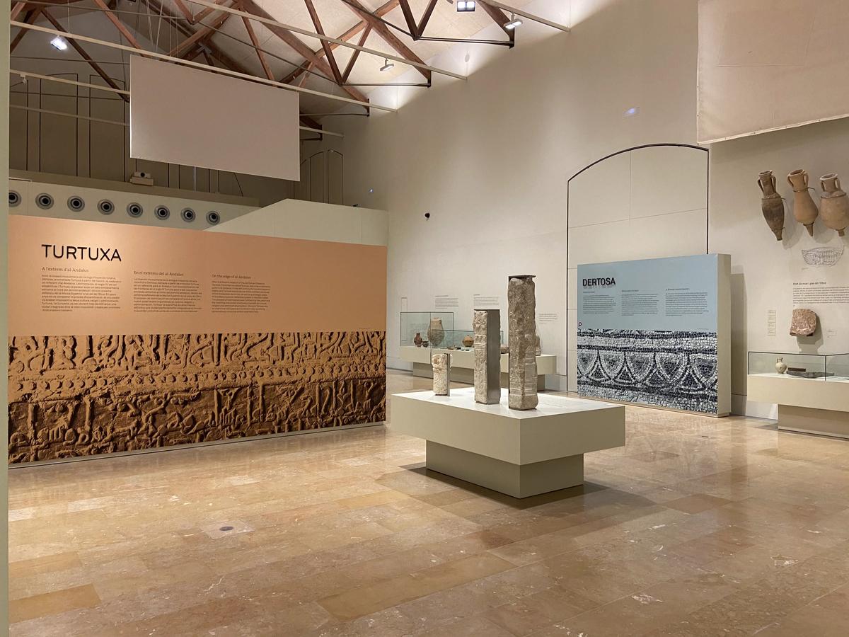 Apartado dedicado a la etapa árabe en el museo de Tortosa.