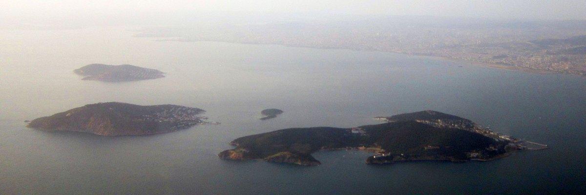 Vista aérea de las islas de Estambul, Turquía.