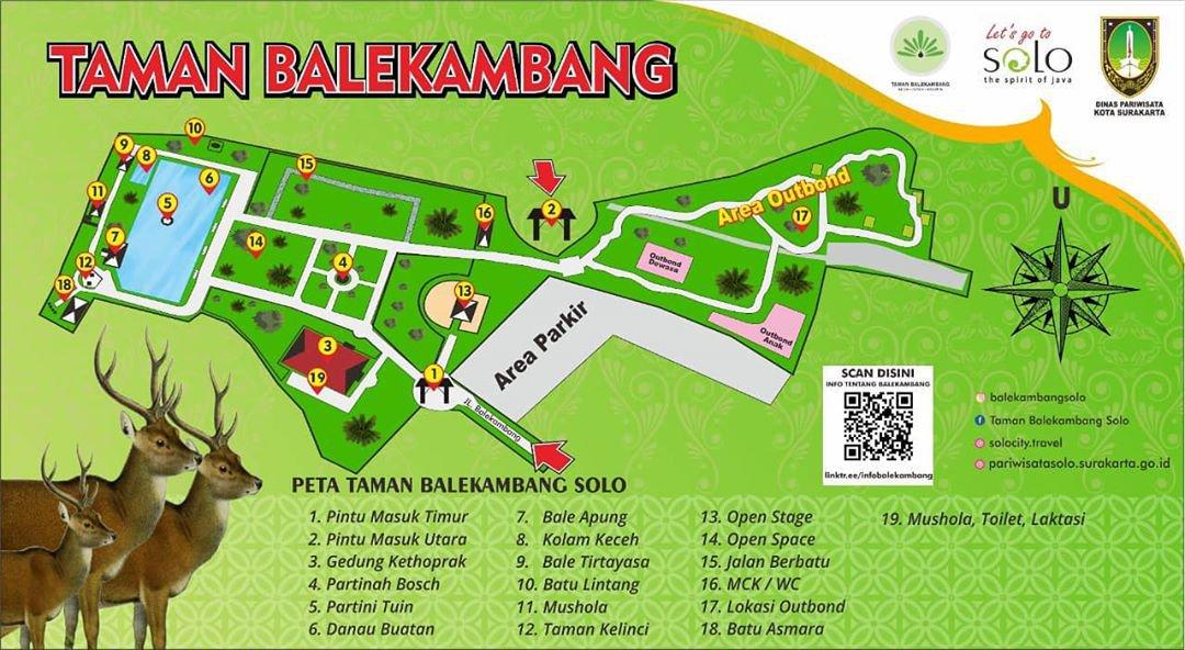 Mapa de Balekambang City Park