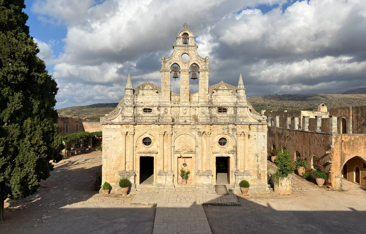 Monasterio de Arkadi en Creta