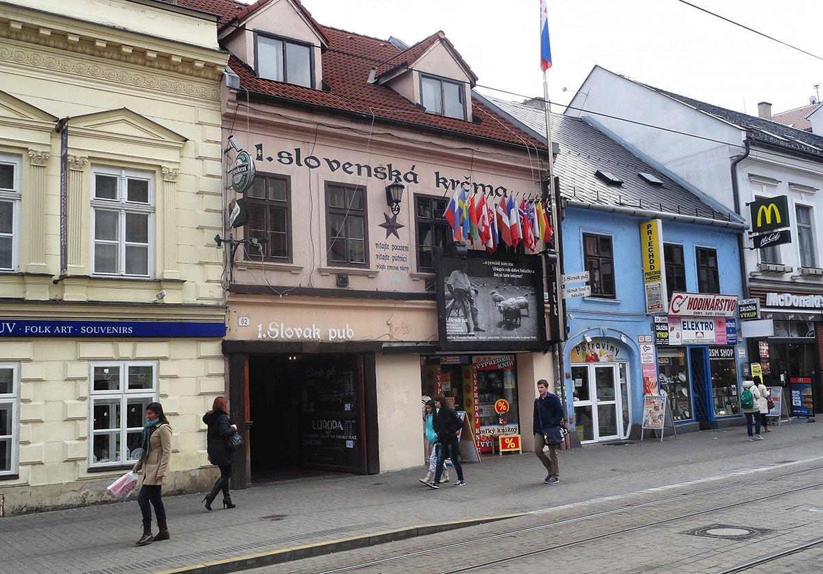 El Slovak Pub de Bratislava.
