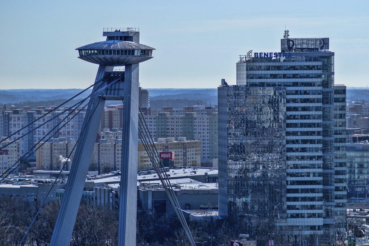 Foto aérea de la torre UFO.
