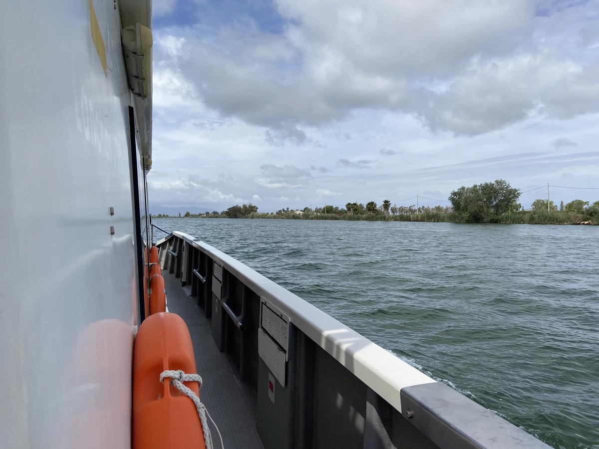 Navegando el Ebro.